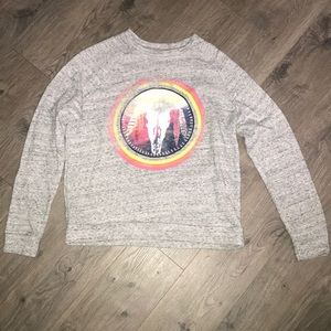 Grey Sweatshirt with a tribal Emblem with colors